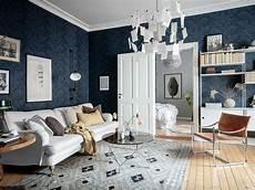 Inspirationen Wohnzimmer Skandinavischen Stil - a beautiful grey blue scandinavian apartment