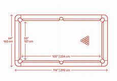9 Billiards Pool Table Dimensions Drawings