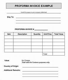 free 15 sle proforma invoice template in docs