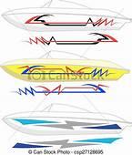 EPS Vectors Of Boat Graphics Stripe  Vinyl Ready Vector