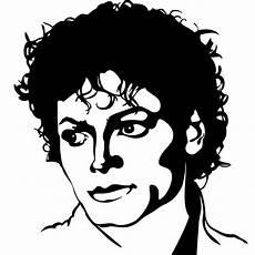 stickers muraux musique sticker portrait michael jackson