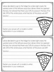 fraction stories worksheets 4109 4th grade fraction word problems interactive notebook by findley