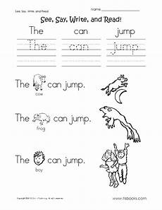 see say write and read worksheet 2 reading worksheets writing 1st grade worksheets