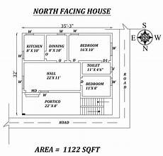 house plans with vastu north facing 35 x32 perfect 2bhk north facing house plan as per vastu
