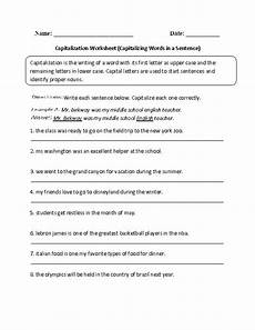 capitalizing words in a sentence capitalization worksheet great english tools pinterest
