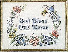 country stitching god bless our home sted cross stitch kit