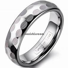 8mm silver dome tungsten carbide ring brushed design men s wedding band ebay
