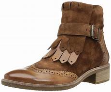 paul green brown miller leather and suede ankle boots