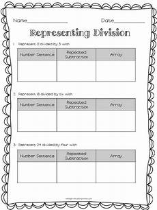 multiplication sentence worksheets for grade 3 4813 representing division practice number sentence repeated subtraction and an array math