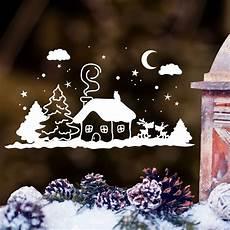 wandtattoo loft fensterbild winter h 228 uschen mit