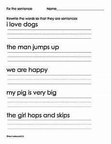 composition practice worksheets 22774 fix the sentences worksheet image 3 practice for j sentences kindergarten writing practice