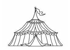 Malvorlagen Zirkus Zirkuszelt Ein Grosses Zirkuszelt Zum Ausmalen Ausmalen Zirkuszelt
