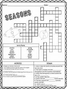seasons worksheets for grade 3 14801 seasons crossword puzzle activity by jersey south tpt