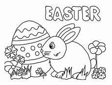 Malvorlagen Ostern Hase Easter Bunny Egg Coloring Pages Preschool Crafts