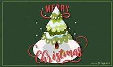 merry christmas tree lettering vector download