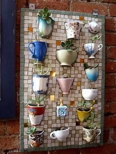 Kreativ Ideen Zum Selbermachen - gartendeko idee selber machen mosaik alte tassen dekoidee