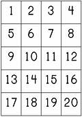 Number Counting Chart 1 20 Pritnable  Count Write