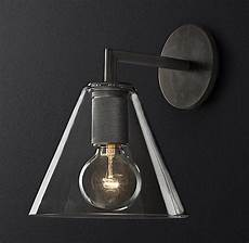 utilitaire funnel shade single sconce sconces wall mounted light vintage lighting