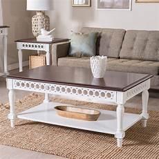 belham living jocelyn coffee table white walnut coffee tables at hayneedle