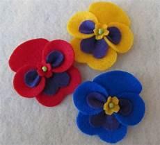 fiori in panno fiori panse feltro e pannolenci felt pansies fiocchi
