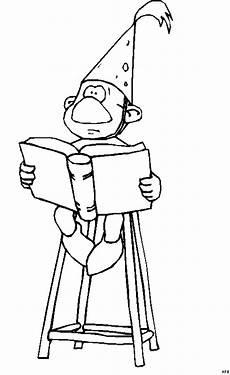 Zauberer Malvorlagen Novel Zauberer Mit Buch Ausmalbild Malvorlage Phantasie