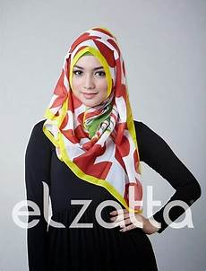 Koleksi Elzatta Segi Empat Terbaru Model Jilbab