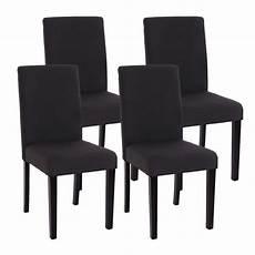 chaises salle à manger lot de 4 chaises de salle a manger tissu noir achat