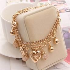 2019 New Bracelets Mulitlayer Gold Chain