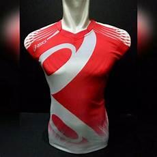 jual kaos singlet olahraga asics ac01 merah putih di lapak nadhan sport nadhansport