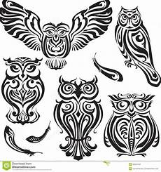 Malvorlagen Xl Wings Set Of Decorative Owls Stock Vector Illustration Of