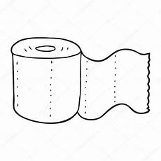 black and white toilet paper stock vector