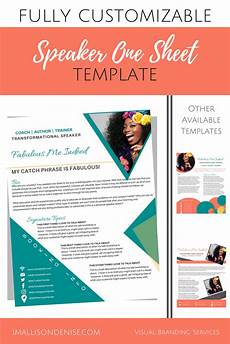 speaker one sheet template edgy templates teaching matter speaker