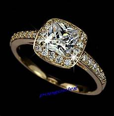 18k gold white gold gp swarovski crystal princess wedding engagement ring