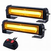 2PCS 3 LED Strobe Light Amber Waterproof Emergency Beacon