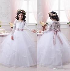 2017 white flower girl dresses for weddings long lace