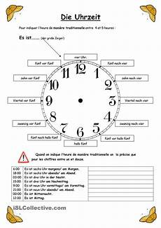 talk german worksheets 19733 die uhrzeit lernen uhrzeit lernen lernen