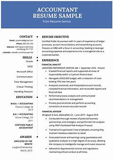 accountant accounting resume exle template rg