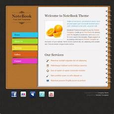 notebook free website templates in css html js format for free download 575 94kb