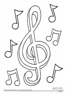 music colouring page