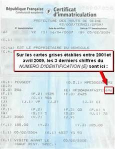 estimation carte grise voiture identification d un v 233 hicule par le num 233 ro de s 233 rie sur les voitures