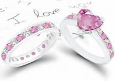 pink heart sapphire and diamond engagement rings wedding rings