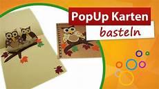 Pop Up Karte Basteln - pop up karte basteln eulen karte trendmarkt24