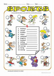 unscramble sports words worksheets 15892 unscramble sports ws worksheet free esl printable worksheets made by teachers