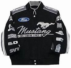 ford mustang collage twill jacket black j h