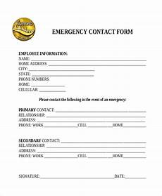 free 11 sle emergency contact forms in pdf doc