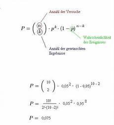 wahrscheinlichkeitsrechnung bernoulli formel
