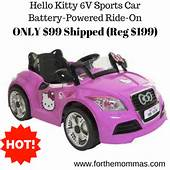 Hello Kitty 6V Sports Car Battery Powered Ride On ONLY $99