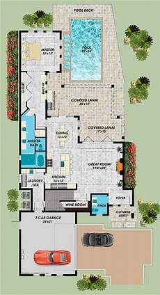 lanai house plans 2 story modern house plan with lanai