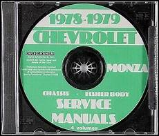 car repair manuals online free 1975 chevrolet monza on board diagnostic system 1978 1979 chevrolet monza shop manual and body repair cd chevy service 78 79 ebay