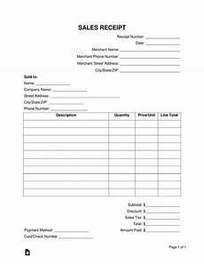 free sales receipt template word pdf eforms free fillable forms